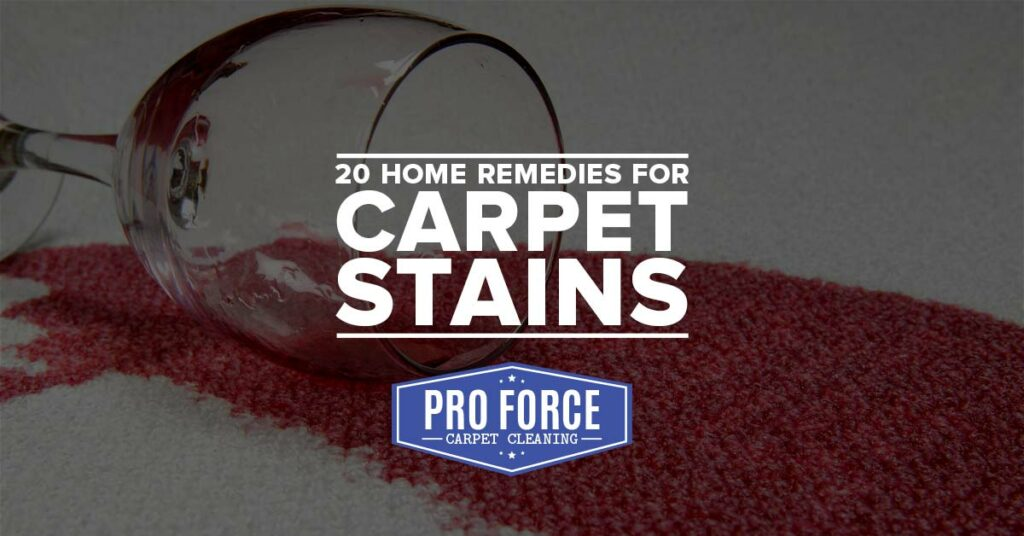 20 Home Remedies for Carpet Stains